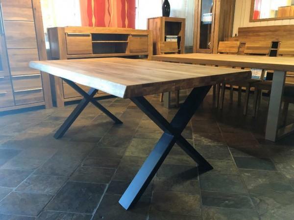 Baumkantentisch Esstisch Eiche massiv 180 x 100 cm , Tisch , Massivholz