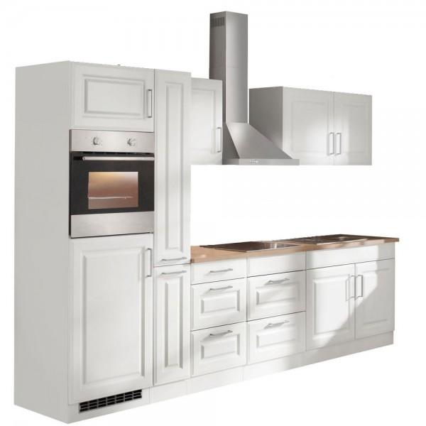 """Küchenzeile mit E-Geräten """"Portland"""" in Weiß 300 cm"""