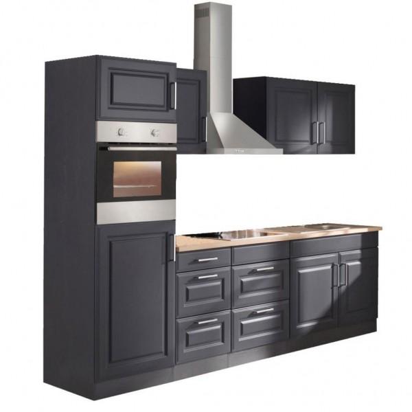 "Küchenzeile ""Portland"" 270 cm – Grau/Sonoma"