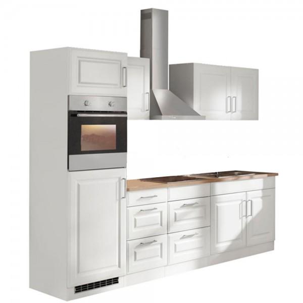 """Küchenzeile mit E-Geräten """"Portland"""" in Weiß 270 cm"""