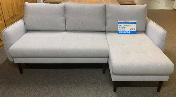 Schlafsofa , Sofa , L - Form mit Schlaffunktion und Stauraumkästen , Modell Small