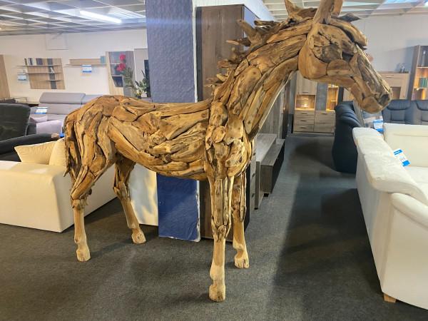Pferd , Unikat Teakholz , Wetterfeste Skulptur