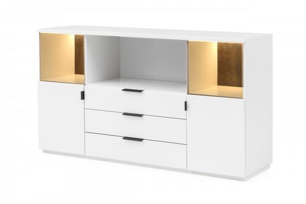 Sideboard Modena , MDF Weiß matt lackiert , Quadrato