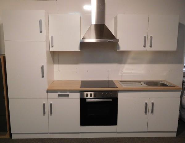 Küchenzeile Torino , Küchenblock 270cm , weiß