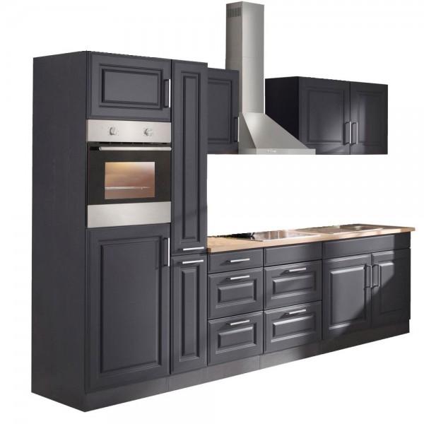 """Küchenzeile mit E-Geräten """"Portland"""" in Grau 300 cm"""