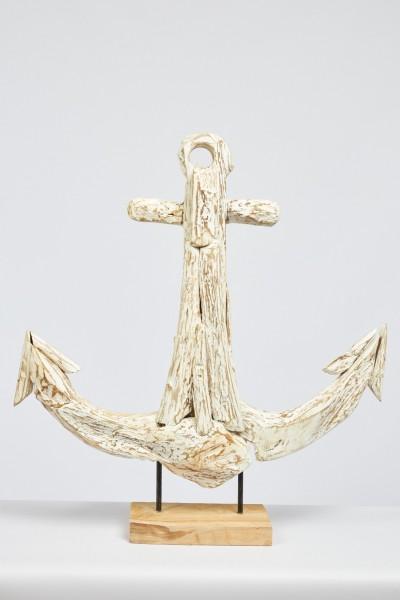 Anker Skulptur Teak, Tischdeko