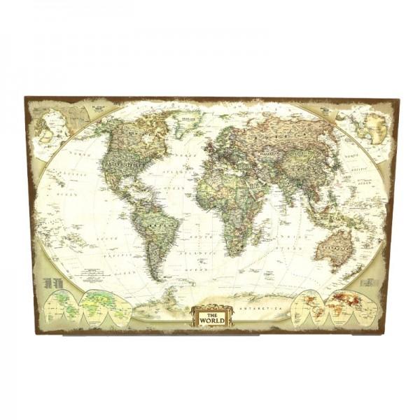 """Weltkarte """" World Map """" Bild auf Leinen"""