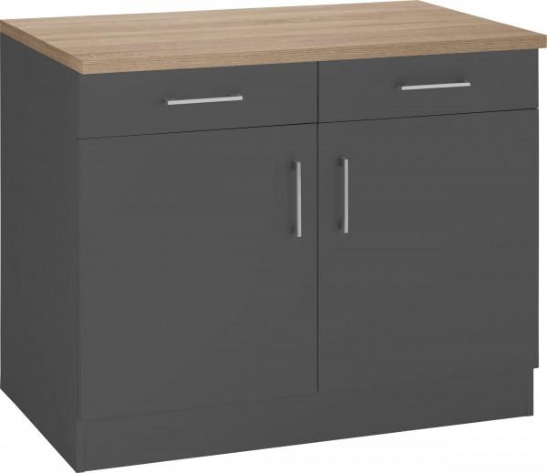 Küchenunterschrank Juist 100 cm , in 2 Farben erhältlich ! Kartonverpackt , zerlegt