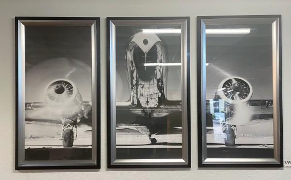 Wandbild 3 Stück , Set , Flugzeug 50 er Jahre , Hochwertige Ausführung
