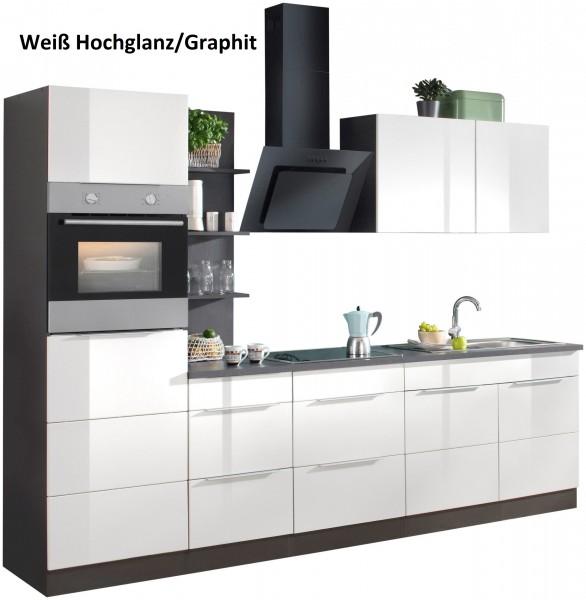 Küche , Küchenzeile 270 cm , inclusive E - Geräte , in 3 Farben