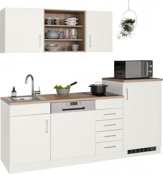 Küche Juist , Küchenzeile , Küchenblock Pantry Küche , Teeküche , mit Geräten , 210 cm