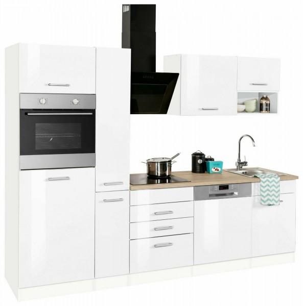 Küche , Küchenzeile , Hanna 260 cm , inclusive Elektrogeräte und Spüle