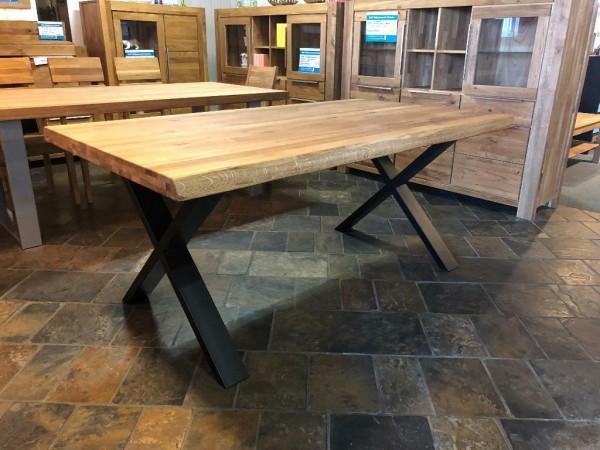 Baumkantentisch Esstisch Eiche massiv 200 x 100 cm , Tisch , Massivholz