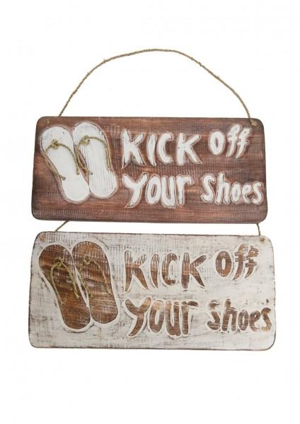Deko Schild , Kick off your shoes
