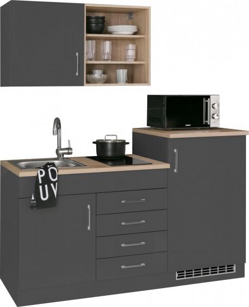 Küche Juist , Küchenzeile , Küchenblock Pantry Küche , Teeküche , mit Geräten , 160 cm