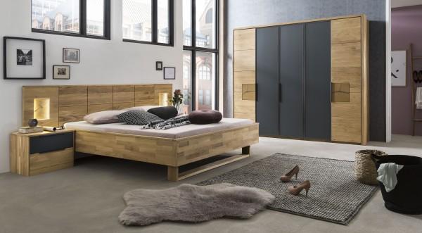 Schlafzimmer Almeda , Eiche Massiv , Ausstellungsstück , 1. Wahl