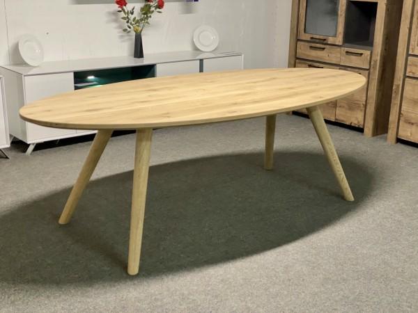 Tisch , Esstisch Eiche massiv , Esstisch Oval Eiche gebürstet