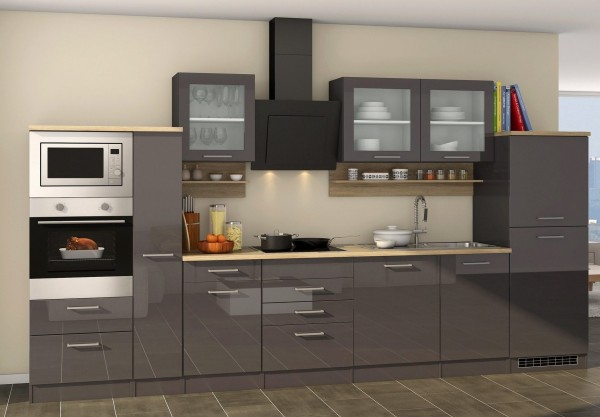 """Küche , Küchenzeile , Küchenblock """"Frankfurt"""" , 370 cm , inclusive Geräte Ausstattung"""