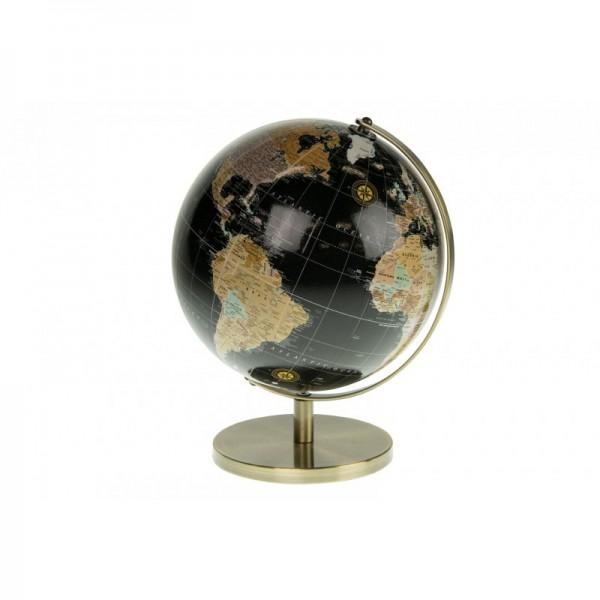 Globus auf Metallständer schwarz
