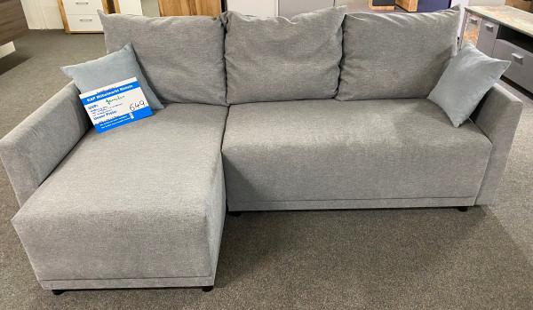 Schlafsofa , Sofa , L - Form mit Schlaffunktion und Stauraumkästen , Modell Tanaa