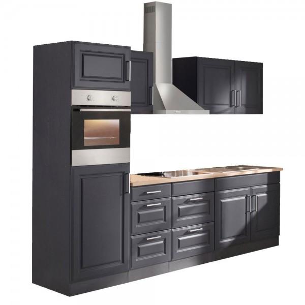 """Küchenzeile mit E-Geräten """"Portland"""" in Grau 270 cm"""