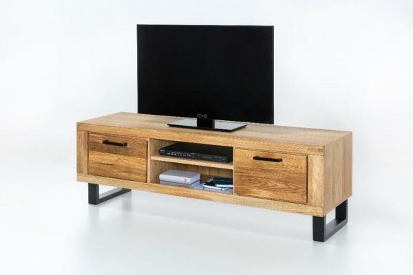 TV - Board Tina , Lowboard , Wildeiche teilmassiv , Fernsehschrank